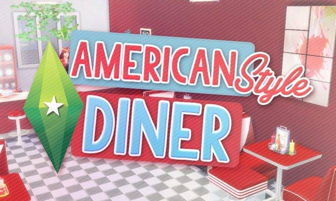 Sims American Style Diner Speed Build Youtube