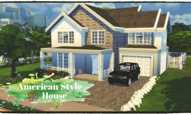 Sims American Style House Build Decoration Dinha