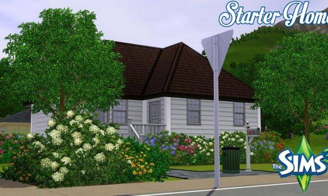 Sims Beautiful Starter House Under Youtube