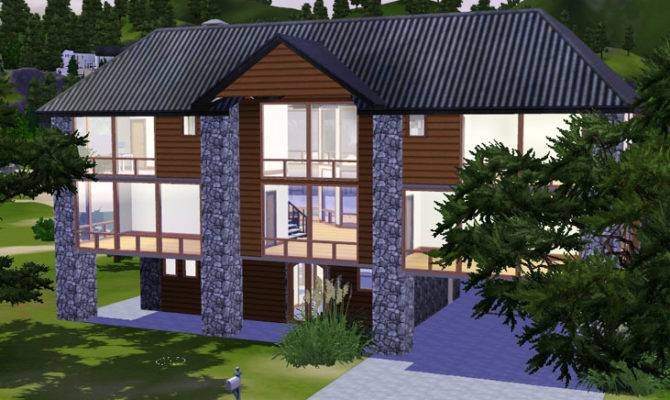 Sims Beautiful Vista Contemporary Wood Stone Bedroom House
