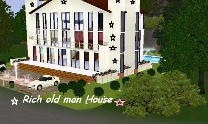 Sims Big Large House Rich Old Man Youtube
