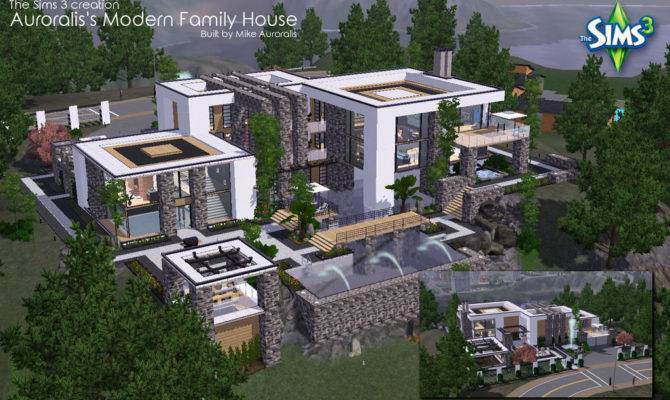 Sims Big Modern House Mikeauroralis