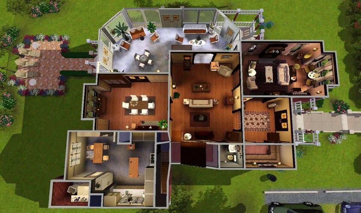 Sims Blog Halliwell Manor Heaven Sent House Plans 6432