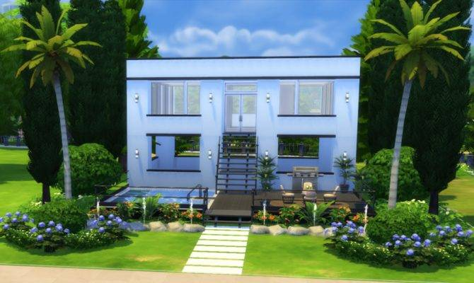 Sims Build Simple Modern House