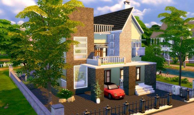 Sims Contemporary Modern House Homeless
