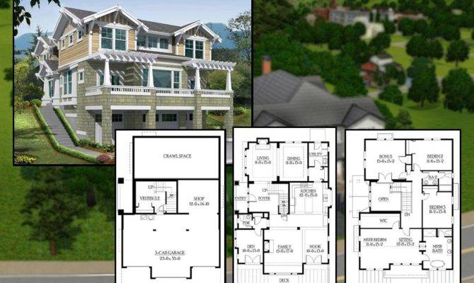 Sims Country House Blueprints Mod Bedroom Craftsman Home