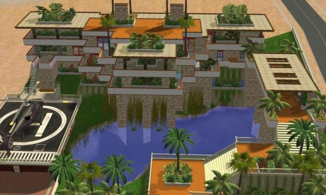 Sims Hillside Tropical Mansion Ramborocky Deviantart