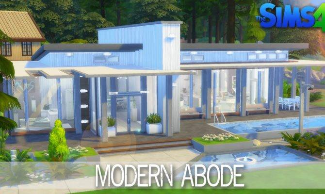 Sims House Building Modern Abode Speed Build