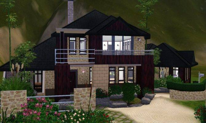 Sims House Designs Asian Inspired Youtube Plans