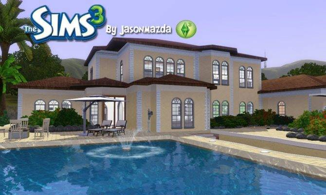Sims House Designs Mediterranean Mansion Youtube