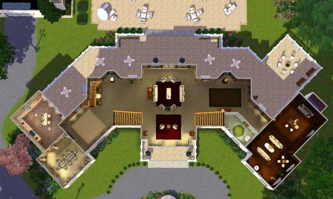 Sims House Plans Mansion Mod Manor