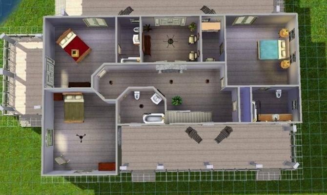 Sims Houses Inside House Ideas Beach