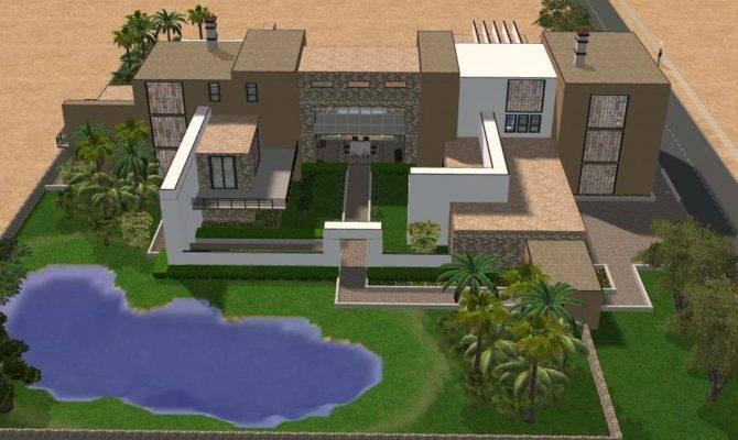 Sims Large Modern Mansion Ramborocky Deviantart