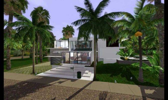 Sims Luxury House Modern Tropical