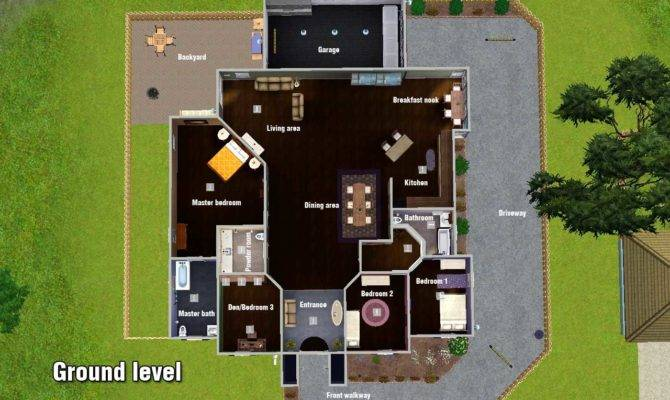 Sims Mansion Floor Plans Car House