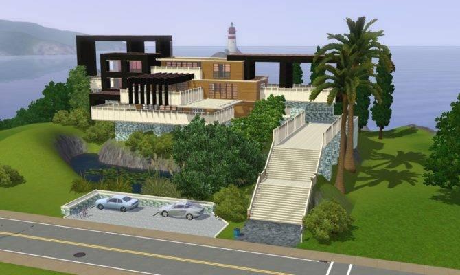 Sims Modern Hillside Home Ramborocky Deviantart
