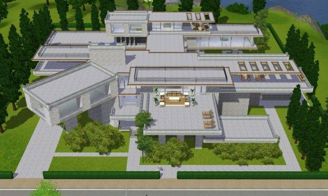 Sims Modern Luxury Mansion Ramborocky Deviantart