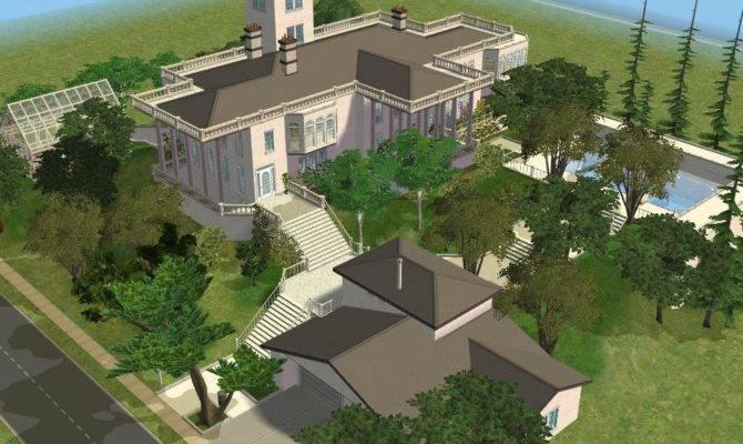 Sims White Hillside Mansion Ramborocky Deviantart