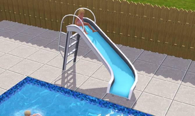 Simulated Life Sims Pool Slide
