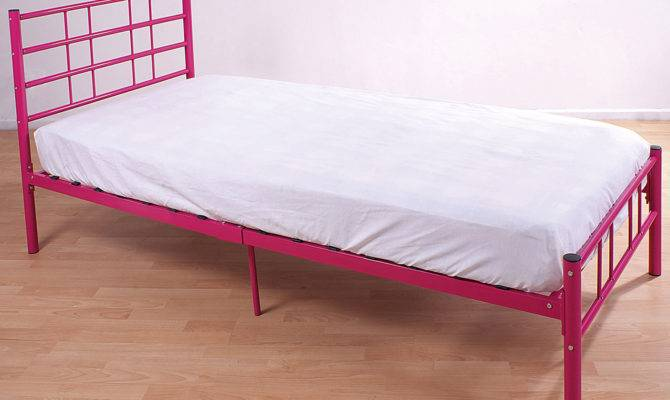 Single Bed Frame Black Blue Pink Silver White