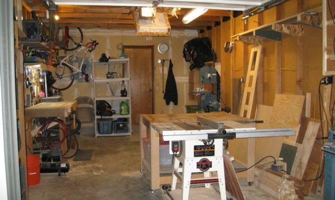 Single Car Garage Shop Weekend Workshop Pinterest