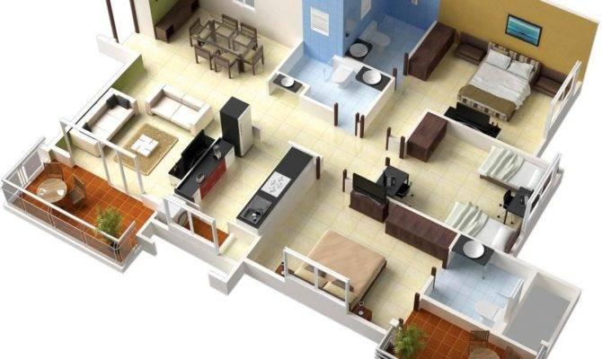 Single Floor Bedroom House Plans Interior Design Ideas