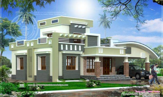 Single Floor Home Design Square Feet Meter