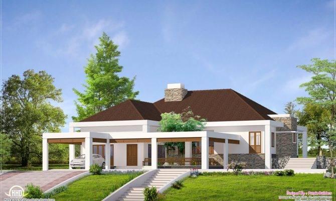 Single Floor Home Nadumuttam Kerala Design