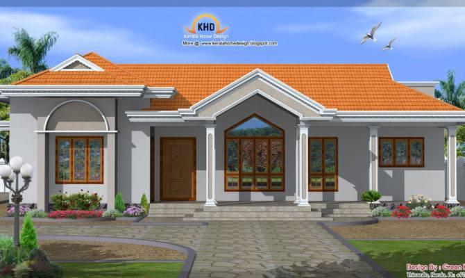 Single Floor House Elevation Architecture Plans