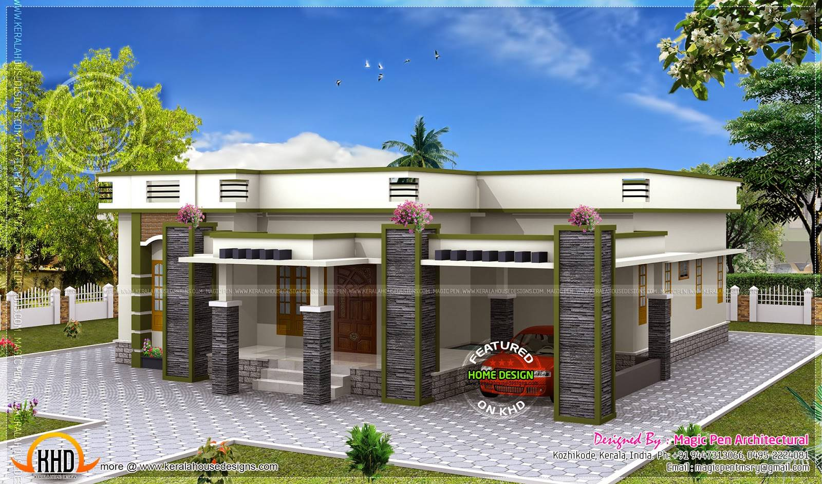 Single Floor House Flat Roof Modern Interior Designs House Plans 77179