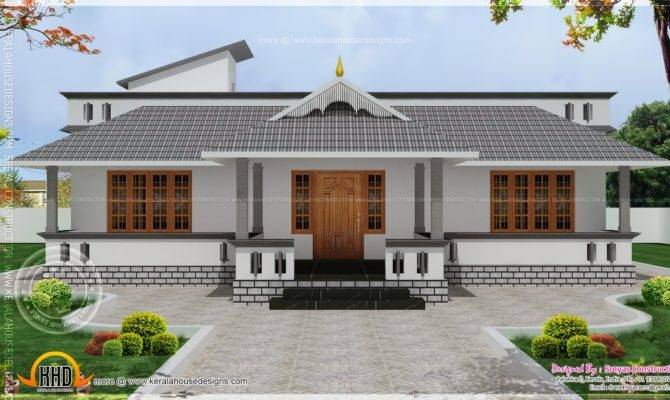 Single Floor House Stair Room Kerala Home Design