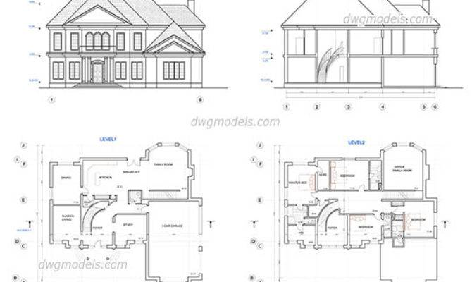 Single House Cad Blocks Dwg Files