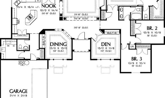 Single Level Home Plans Design Style