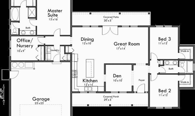 Single Level House Plans One Story Great