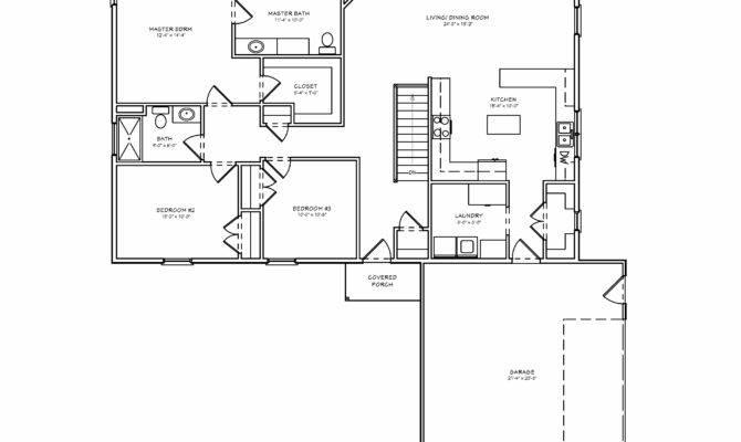 Single Level Ranch House Plans