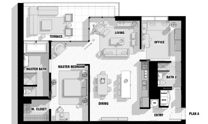 Single Male Loft Floor Plan Interior Design Ideas