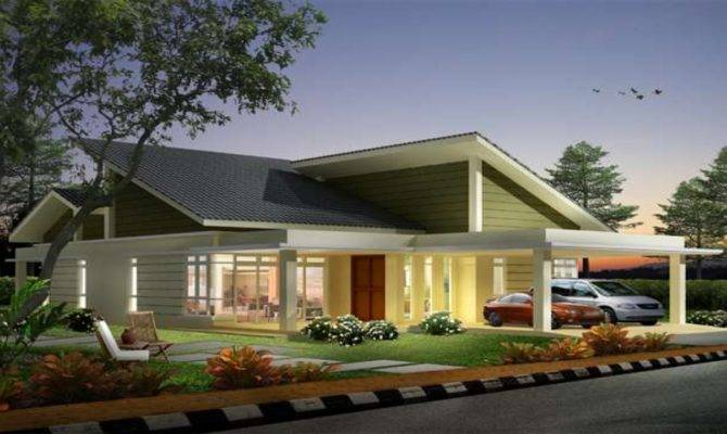 Single Storey Bungalow House Designs