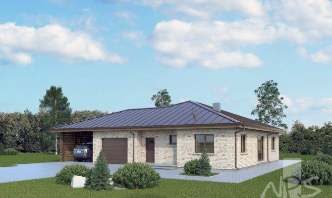 Single Storey House Project Garage Rasa Nps