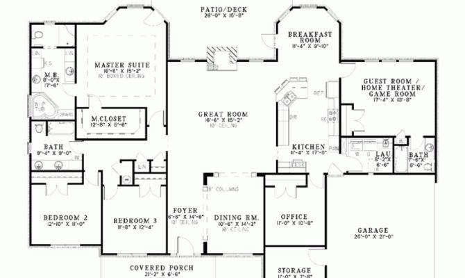 Single Story Bedroom House Plans One Bungalow Home House Plans 104229