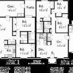 Single Story Duplex House Plan Corner Lot Plans