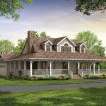 Single Story Farmhouse Wrap Around Porch Square Feet