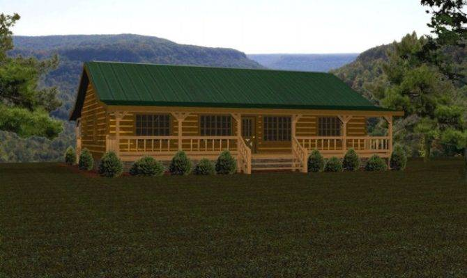 Single Story Log Homes Floor Plans Kits Battle Creek
