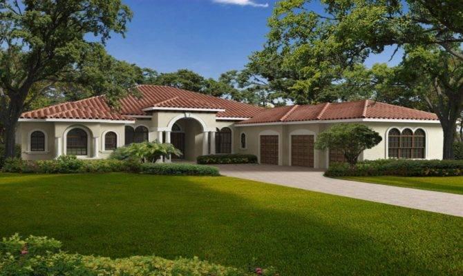 Single Story Mediterranean House Plans One
