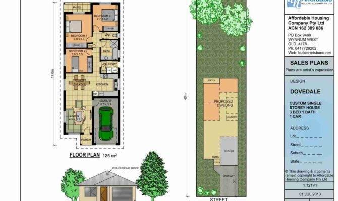 Single Story Narrow Lot Homes Plans Perth