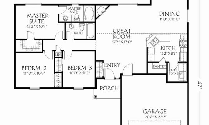 Single Story Open Floor Plans Homes