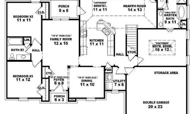 Single Story Open Floor Plans One Bedroom