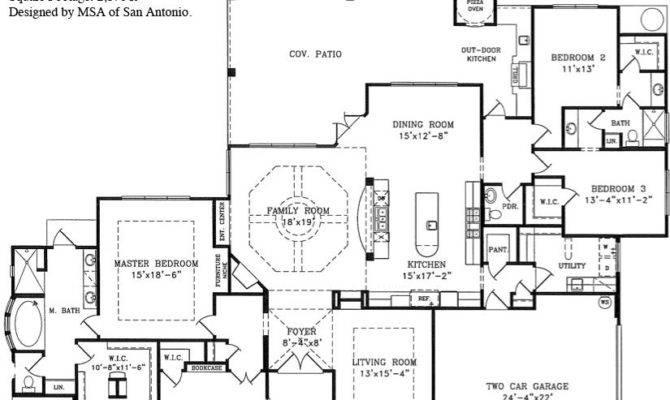 Single Story Open Floor Plans