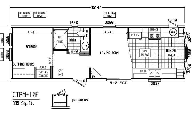 Single Wide Trailer Floor Plans Bedroom