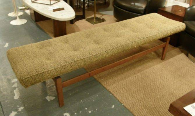 Six Foot Long Floating Upholstered Bench Jens Risom
