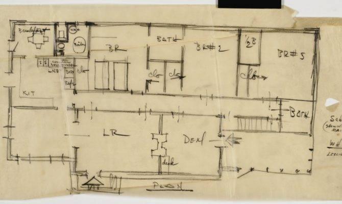 Sketch Floor Plan Winston Tornow House Laurinburg